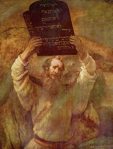 Moses with the tablets